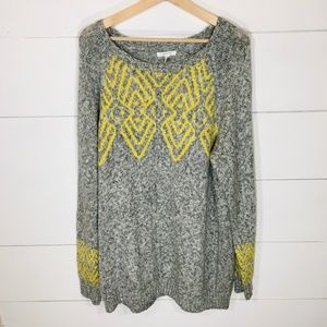 MAURICES Boat Neck Tunic Gray Sweater XXL NEW